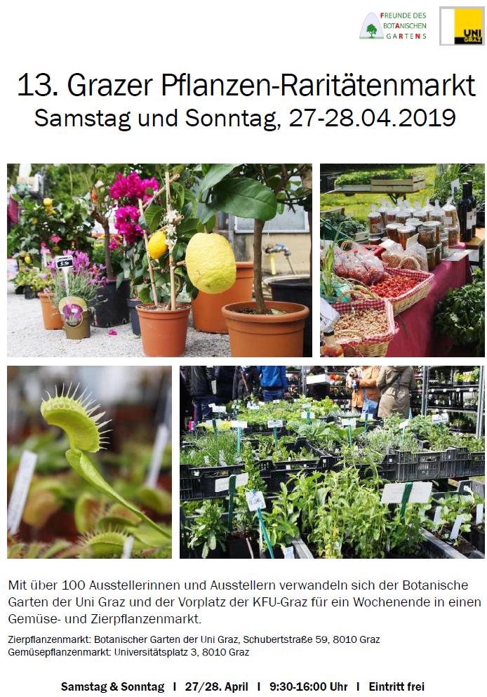 Pflanzen-Raritätenmarkt in Graz, Ö.